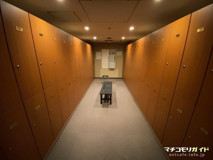 カプセル宿泊者用更衣室