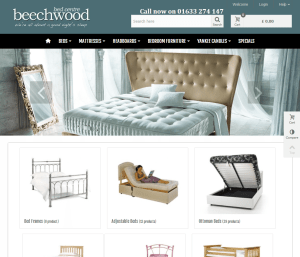Beechwood Bed Centre (portfolio: web design & web development)