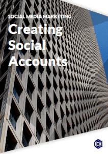 Creating social accounts for social media marketing