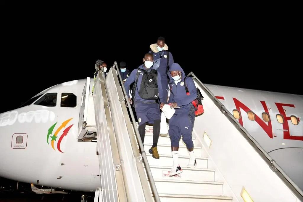 🇸🇳 Namibie-Sénégal : arrivée des Lions en Afrique du Sud (Images)