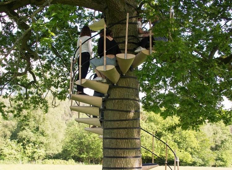 Canopystair Tree Stairway   Spiral Staircase Around Tree Trunk   Treehouse Masters   Ter Kulve   Canopystair   Robert Mcintyre   Wooden Stairs