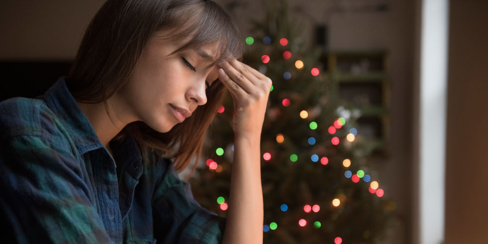 Image result for woman depressed at christmas
