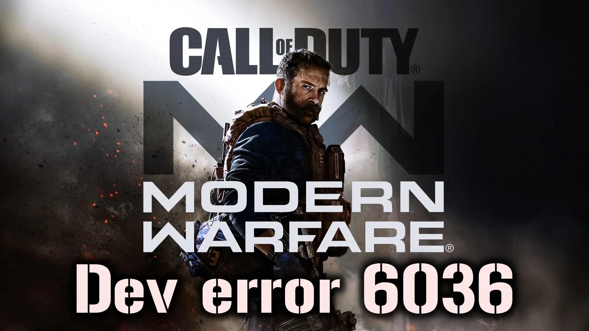 【News】『CoD:MW』で発生するエラー「dev error 6036」の対処法