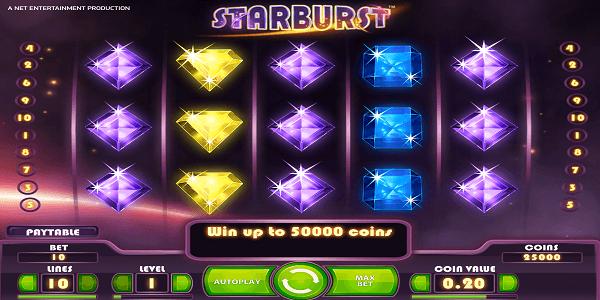 Mini Starburst Netent Games