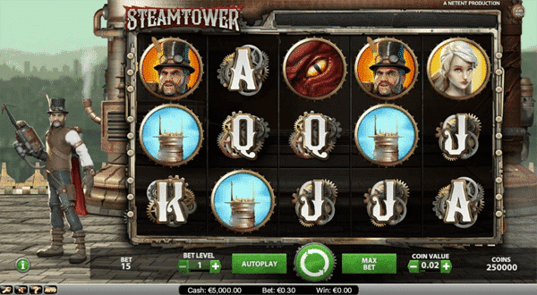Steam Tower Netent Slot