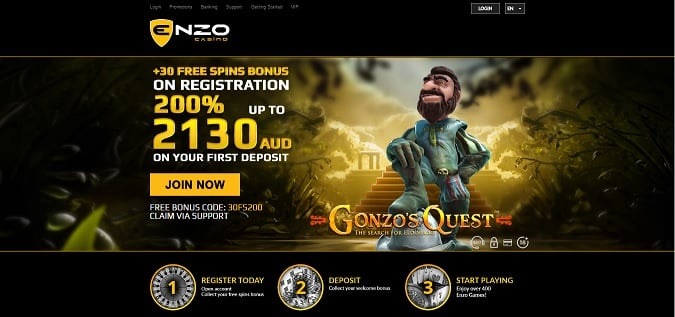 Enzo Casino free spins + bonus