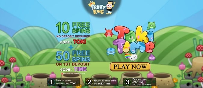 Fruity King Casino free spins