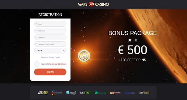 Mars Casino exclusive