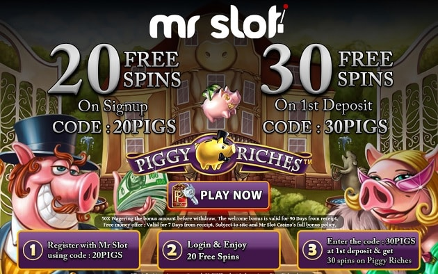 Mr Slot Casino free spins
