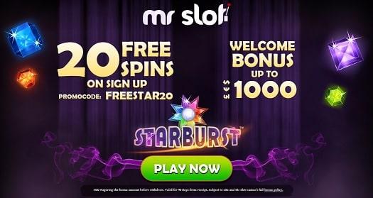 MrSlot Casino bonus & free spins