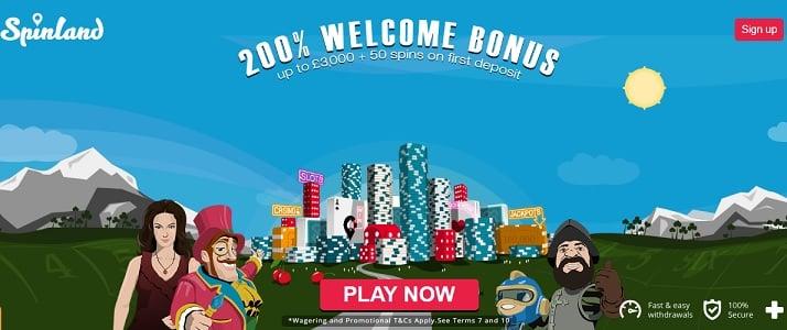 Spinland Casino bonus & free spins