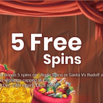 5 Free Spins on holidays from Jackpot Slot
