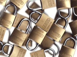 many padlocks represent the many ways to protect your WordPress admin account