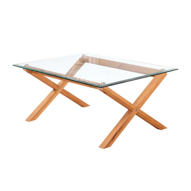 cardt glass coffee table criss cross legs