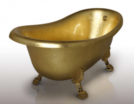 Gold-bath-tub