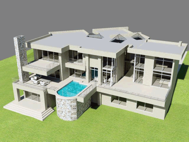 3 Story House Plan With 6 Bedrooms Building Plans