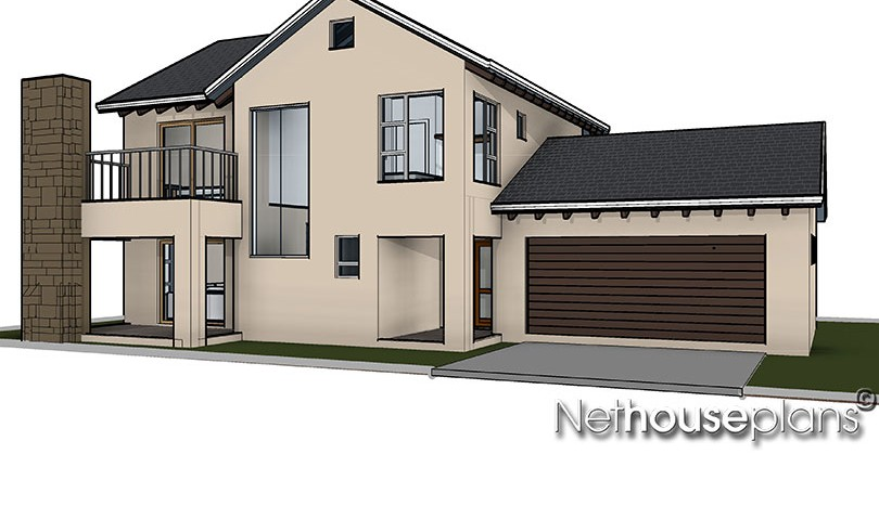 3 bedroom house plan, Net house plans south africa, compact double storey 3 bedroom house plan, Net house plans south africa, house plans south africa, home designs, house designs, architectural designs South Africa nethouseplans.com