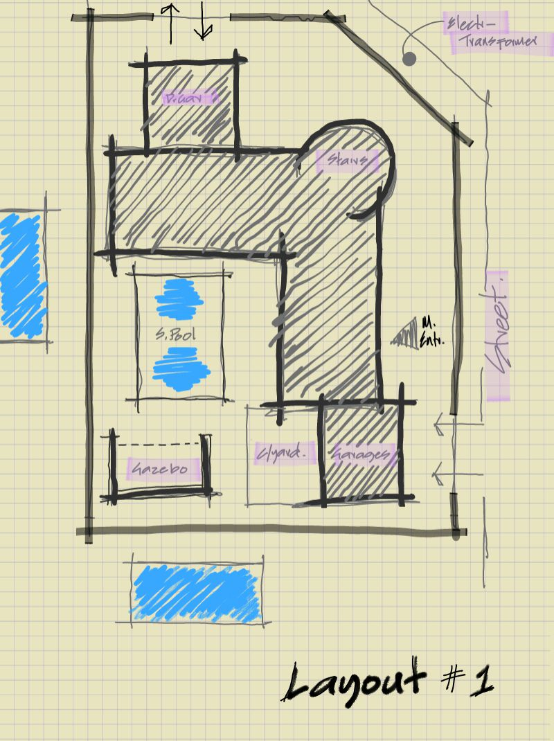 house plan, sketch, proposed house design