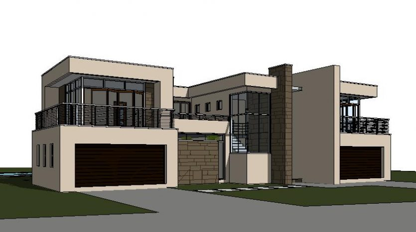 3D model 3D render home designs architectural designs luxury house double garages design your own house plans with photos nethouseplans floorplanner ranch house plans blueprints Double storey house designs South Africa plan C643D, Nethouseplans, South Africa