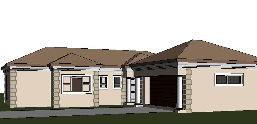 Four Bedroom House Plan Drawing For Sale | One Storey ...