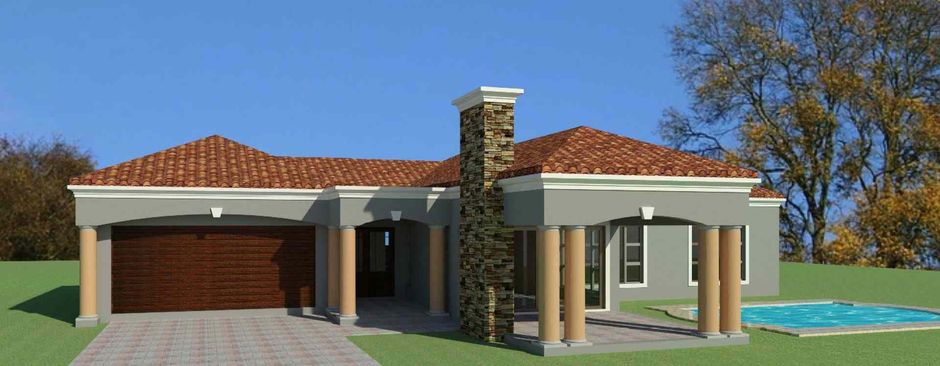 3 bedroom house plan for sale south african designs - Single story 4 bedroom modern house plans ...
