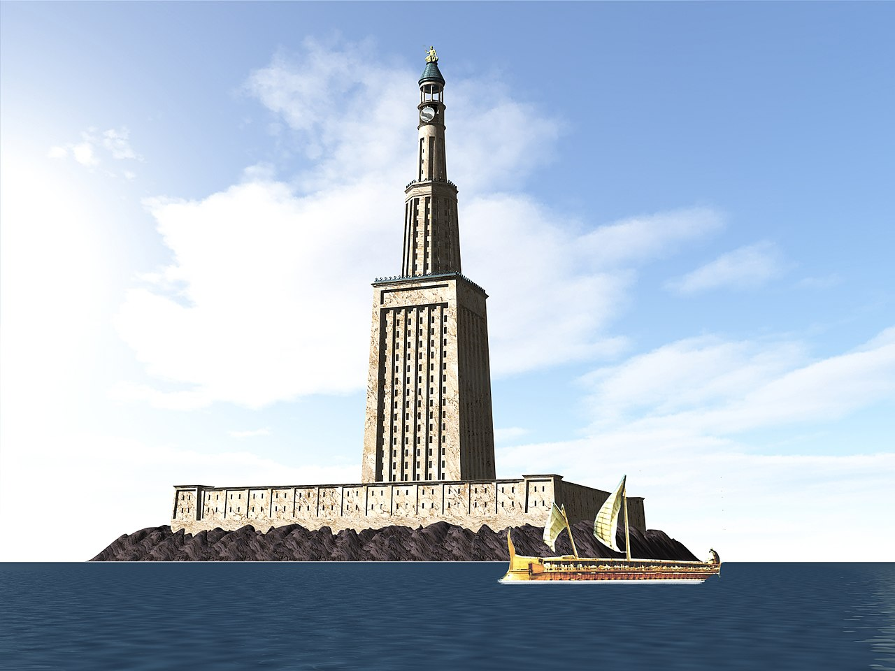 pharos lighthouse, ancient structures, nethouseplans