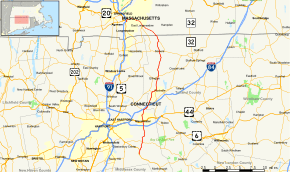 The border of CT & MA.Springfield is only minutes from the CT side.