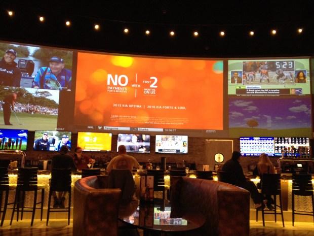 Bar view inside Fluties 22 Pub