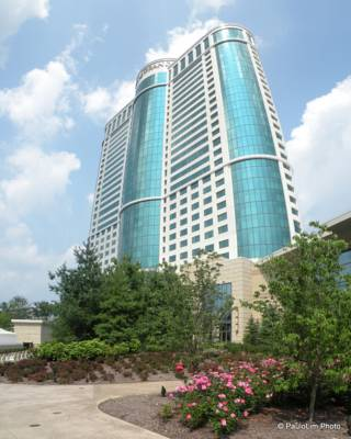 Fox Tower at Foxwoods. The Producer Suites are in the extended round portion of the building, so each Producer Suite has a different Sq. footage