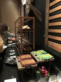 Food options at MGM VIP Lounge