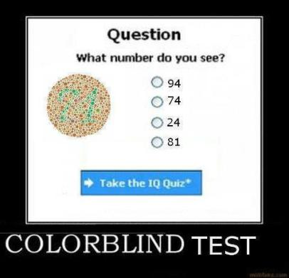 Facebook Puzzle - colorblind test