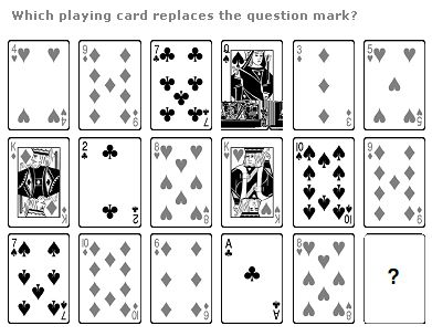 Card Puzzle – Which playing card