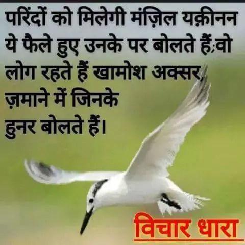 Hindi Inspiring Quotes परिंदों को मिलेगी उनकी