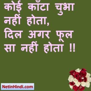 कोई काँटा चुभा नहीं होता,  दिल अगर फूल सा नहीं होता !!