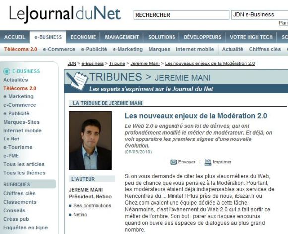 Tribune JDN : les nouveaux enjeux de la modération 2.0