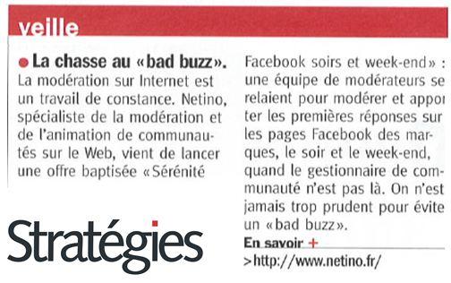 Stratégies Magazine : Chasse au