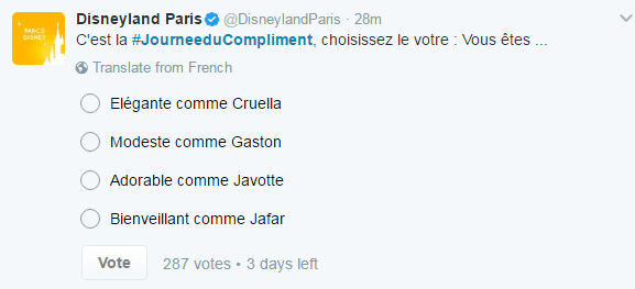 Tweet Disney JDC