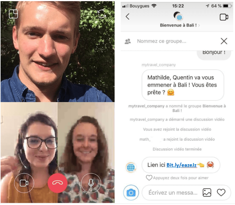 Instagram Video Chat, le futur must de votre relation client