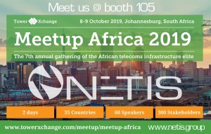 Meet NETSI @TowerXchnage 2019 - Johannesburg -8/9 October -Booth 105