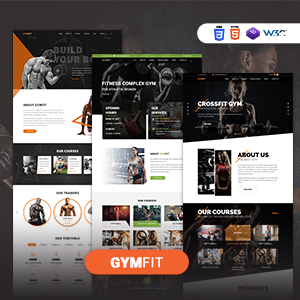 GYM FIT- Gym & Fitness HTML5 Responsive Template