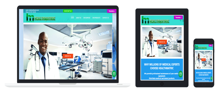 Healthmatric Project by Netkipedia web design services in Cameroon