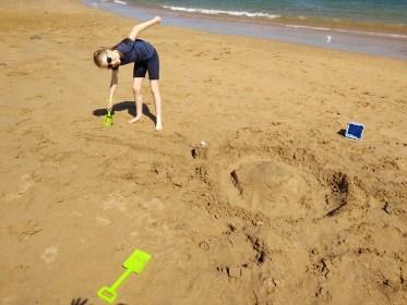 Jen and sand village