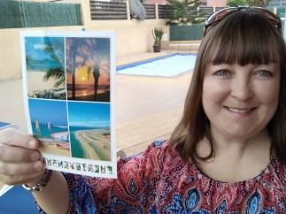 me and postcard
