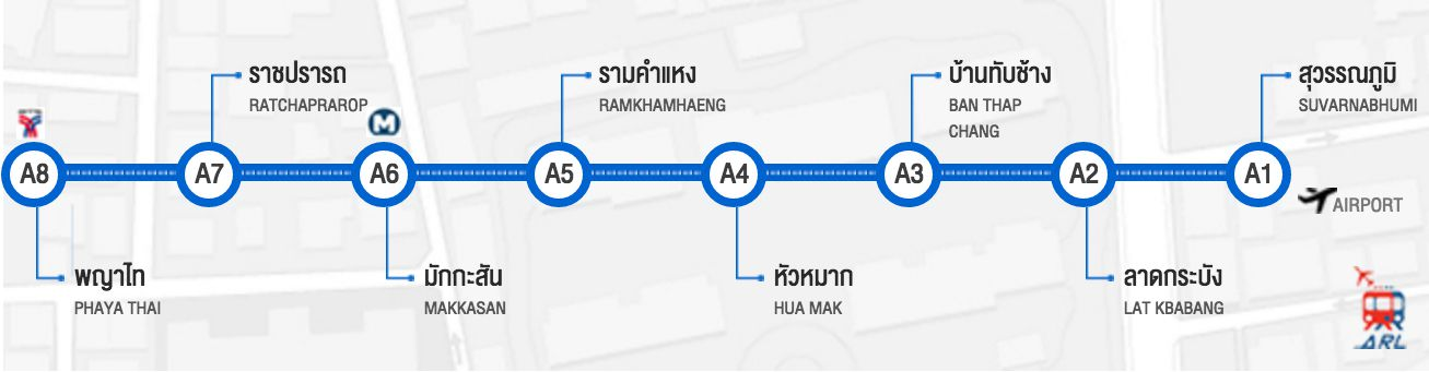 Bangkok Airport Link Map