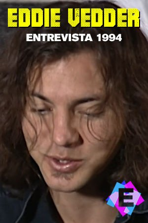 Primer plano de la cara del cantante Eddie Vedder