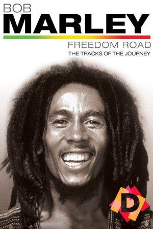 bob Marley en blanco y negro y sonriendo