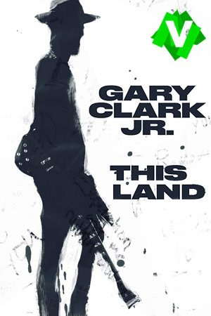 Dibujo de una figura humana de pie con guitarra. Gary Clark Jr