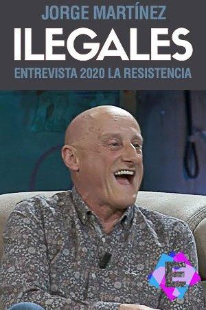 Jorge Martínez (Ilegales) - En La Resistencia. Jorge Martínez riendo con camisa gris
