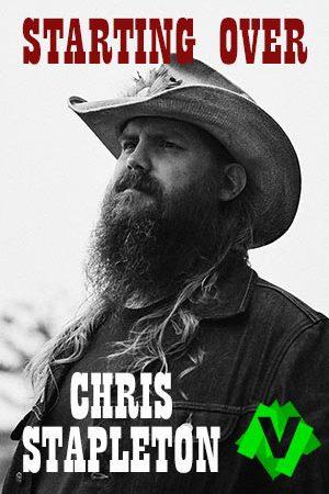Chris Stapleton con sombrero y cazadora vaquera y con larga barba