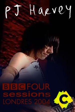 PJ Harvey - BBC Four Sessions. pj harvey tocando la gitarra con vestido blanco y fondo rojo